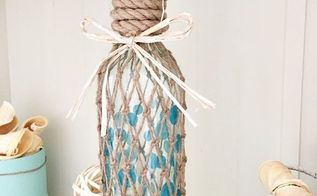coastal wine bottle upcycle, crafts, how to