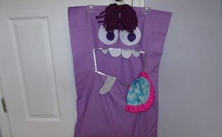 diy no sew monster laundry bag, crafts, how to, reupholster