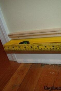 use inexpensive molding to get upscale looking baseboards , diy, home improvement, wall decor, woodworking projects