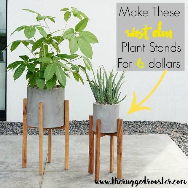 West Elm Inspired DIY Plant Stands | Hometalk