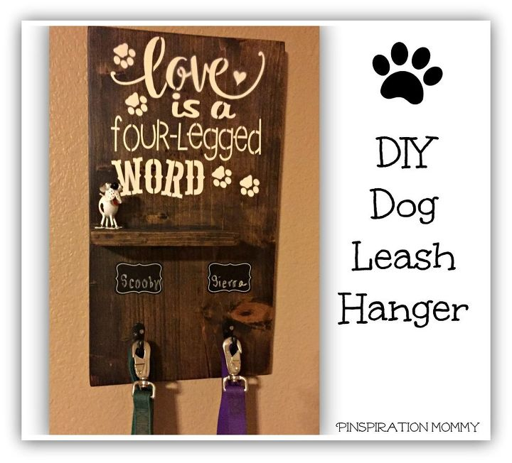 Diy Dog Wall Decor : Diy dog leash hanger hometalk