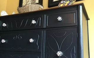depression buffet makeover, decoupage, diy, home decor, painted furniture