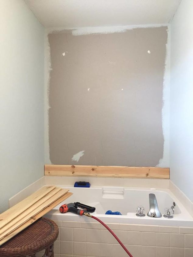 My master bath got a shiplap transformation hometalk for Diy master bathroom ideas