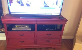 a dresser turned tv stand, chalk paint, diy, painted furniture, repurposing upcycling