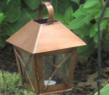 repurposed copper lanterns outdoor decor on a budget, crafts, outdoor living, repurposing upcycling