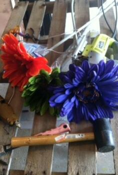 floral art and pallet wood 30dayflip, crafts, diy, pallet, Supplies