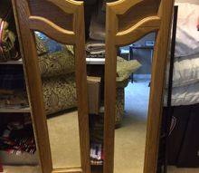 q what to do with triple dresser mirror sides , repurpose furniture, repurpose household items, repurposing upcycling