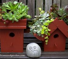 easy diy green roof birdhouses, container gardening, gardening, pets animals