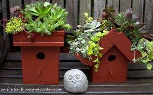 easy diy green roof birdhouses, container gardening, gardening, pets animals
