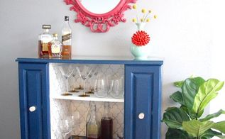diy upcycled bar cart, entertainment rec rooms, painted furniture, repurposing upcycling