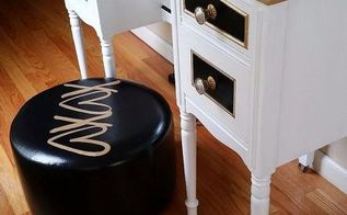 update vinyl pleather without special products, how to, painted furniture