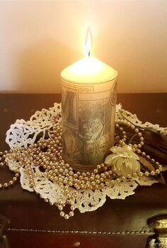 how to transfer and image to a candle the easy way, crafts, how to