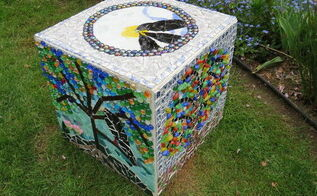 my recycle garden thinking box bird s and tree s, how to, outdoor furniture, repurposing upcycling