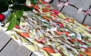 table runner made from fabric scraps, crafts, how to, reupholster