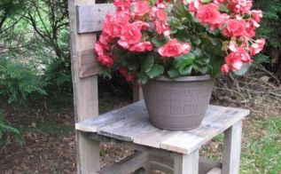 mom and her pallet wood chair diy, diy, outdoor furniture, pallet, rustic furniture, woodworking projects