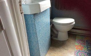 ugly sink , bathroom ideas, how to, small bathroom ideas