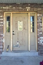 how to update your build grade door, curb appeal, diy, doors, home improvement, how to, painting