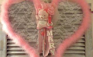 my new angel wings baby door wreath hanger, crafts, wreaths