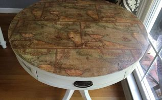 salvaging a table top, decoupage, painted furniture