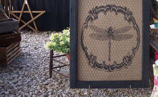 old screen door is picture perfect , doors, painting, repurposing upcycling