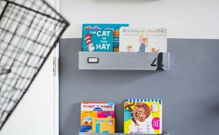 behind the door industrial reading nook, diy, how to, repurposing upcycling, shelving ideas