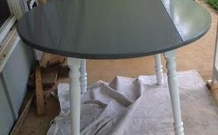 1970 s dining table redo, dining room ideas, painted furniture