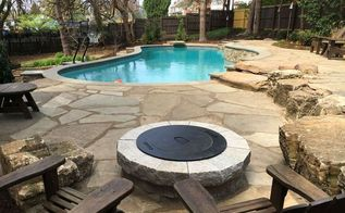 natural stone poolside patio outdoor living area gopro edition , concrete masonry, outdoor living, pool designs