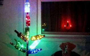 madjack s bottle tree, lighting, repurposing upcycling