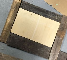 rustic diy command center chalkboard paint organizing pallet rustic furniture - Rustic Center