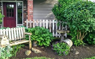 special garden effects with junk, fences, flowers, gardening, lawn care, outdoor furniture, repurposing upcycling