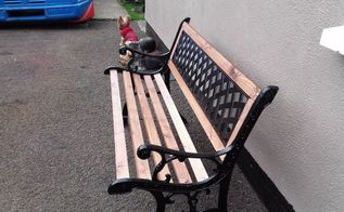tired old bench, outdoor furniture, painted furniture, Ta Dah