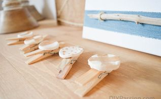 diy rustic photo display with air dry clay, crafts