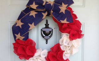 easy patriotic wreath, crafts, patriotic decor ideas, seasonal holiday decor, wreaths