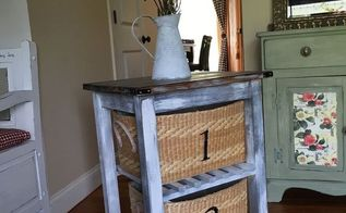 ultimate ikea hack kitchen cart turned barnwood end table, kitchen design, painted furniture, repurposing upcycling, storage ideas