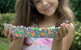 perler bead bowl craft, crafts