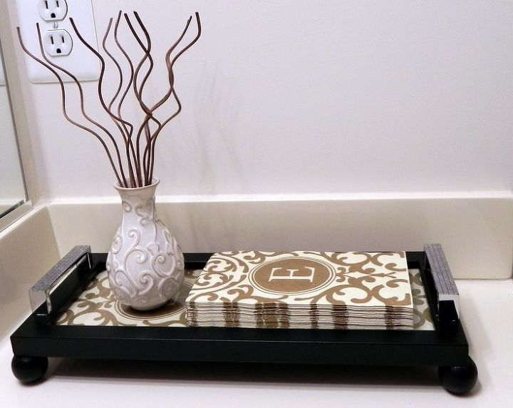 Interchangeable Guest Towel Picture Frame Tray Bathroom Ideas Crafts Decoupage Small