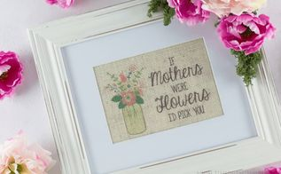 diy flower frame for mom, crafts, seasonal holiday decor