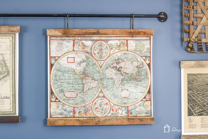 Map Wall Decor Diy: DIY Map Art From Old Pallets