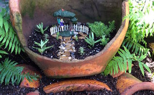 how to create a recycled fairy garden, crafts, gardening, how to, succulents