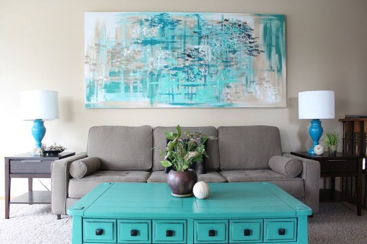 Oversized Wall Art Ideas: Make LARGE Canvas Wall Art For $14