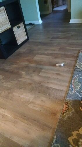 Inexpensive Laminate Flooring cantabria oak fiesta excel diy laminate flooring We Just Replaced Our Laminate With Vinyl Planks Amazing Results Shows Only Dust If The Sun Is Shining On It