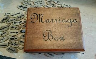 marriage box made from a cigar box, crafts, repurposing upcycling