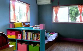 tween girls room makeover , bedroom ideas, chalkboard paint, crafts, home decor, painting, shelving ideas