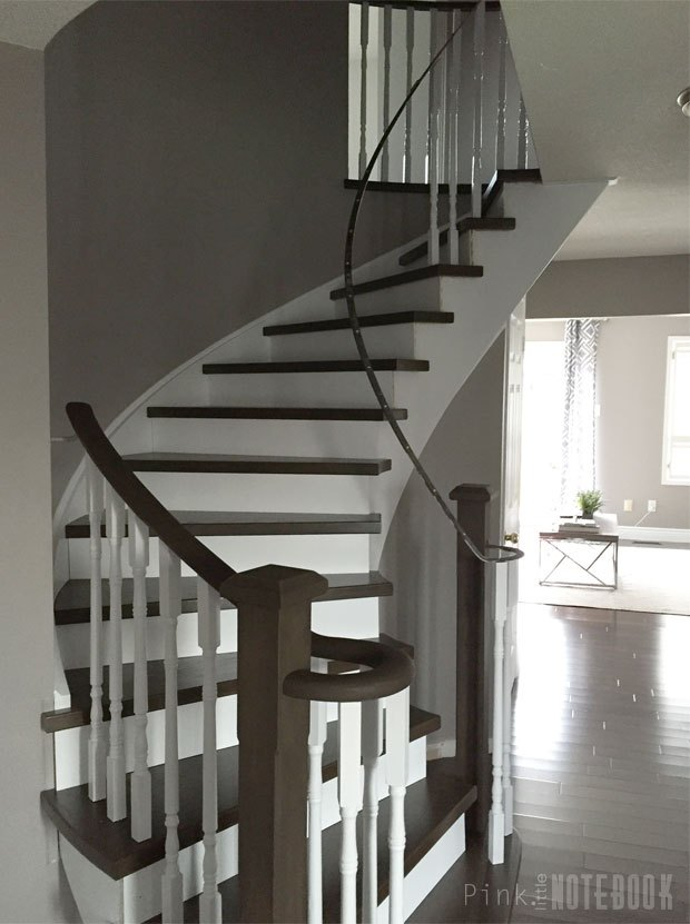 Curved Staircase Remodel: Before & Afte | Hometalk