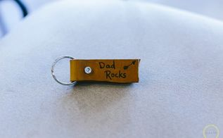 diy father s day leather key chain, crafts, how to, seasonal holiday decor