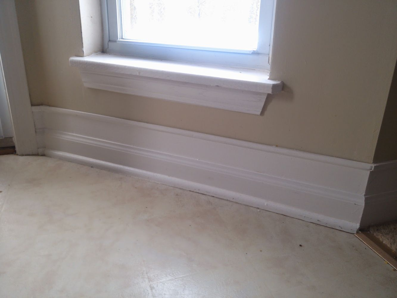 Color Paint Baseboard White