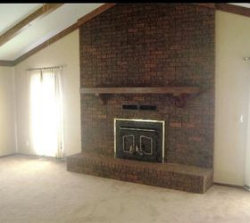 How To Paint A Dated Brick Fireplace | Hometalk