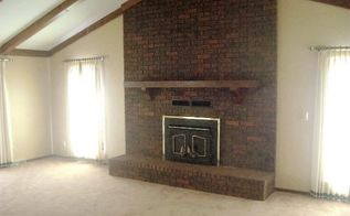 how to paint a dated brick fireplace, concrete masonry, fireplaces mantels, how to, painting