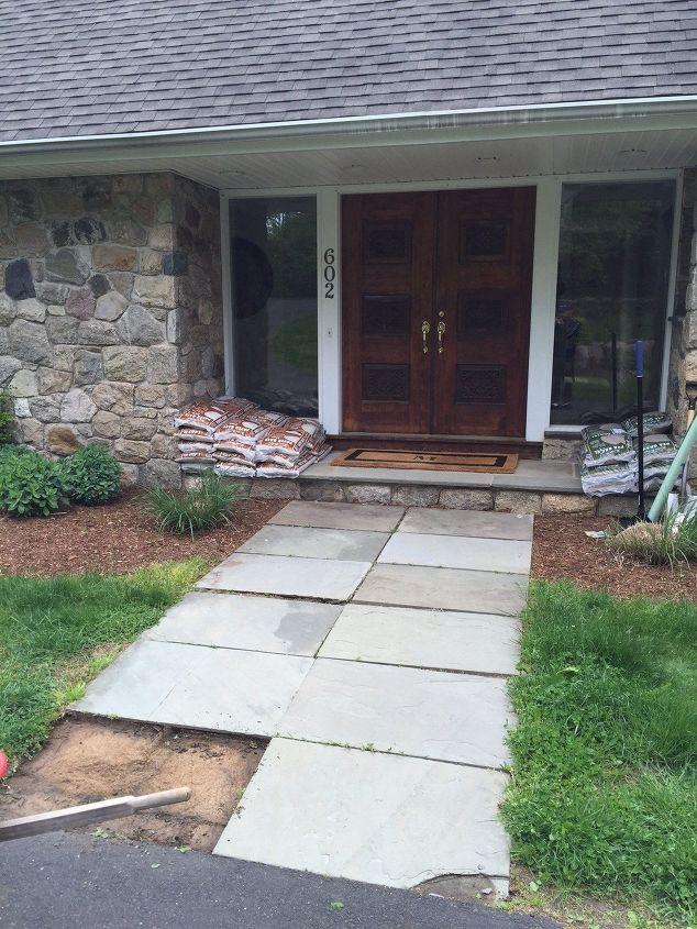 Concrete Front Walk : Front walkway redo hometalk