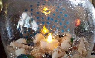 poolside candle vase, crafts